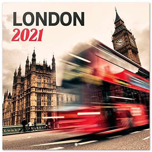 ERIK - Calendario de pared 2021 Londres, 30x30 cm