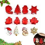 WELLXUNK® 4 pcs Juego de Cortadores de Galletas, Molde para Galletas para Niños, Cortadores para Hornear Galletas, Formas para La Navidad, Accesorios para Decoración de Pasteles de Navidad