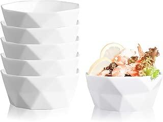 Kingrol 6-Pack Dessert Bowls, 8 oz Porcelain Ramekins for Ice Cream, Dessert, Small Side Dishes, Salad, Fruit, Dip