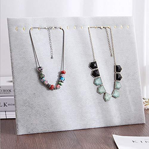 MUY Tablero de exhibición de Collar Soporte de exhibición de joyería de Terciopelo Collar Rack Pendientes Colgante Accesorios de exhibición Caja de Recuerdo de Pascua para Mujeres para Mujeres