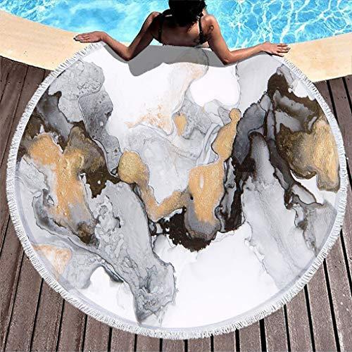 WellWellWell Toalla de playa de tinta vintage, extra grande, para adultos, color blanco, 150 cm