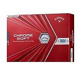 Callaway(キャロウェイ) ゴルフボール CHROME SOFTトリプルトラック 1ダース12個入り 2020年モデル ホワイト
