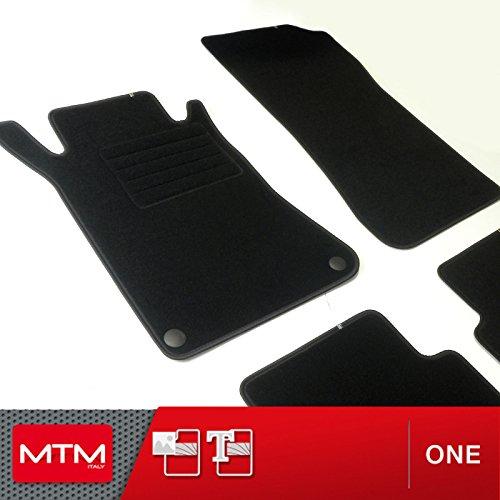 MTM Alfombrillas CLK (W209) Desde 2002-2010, a Medida Forma Original en Moqueta Antideslizante, cód. One 2082