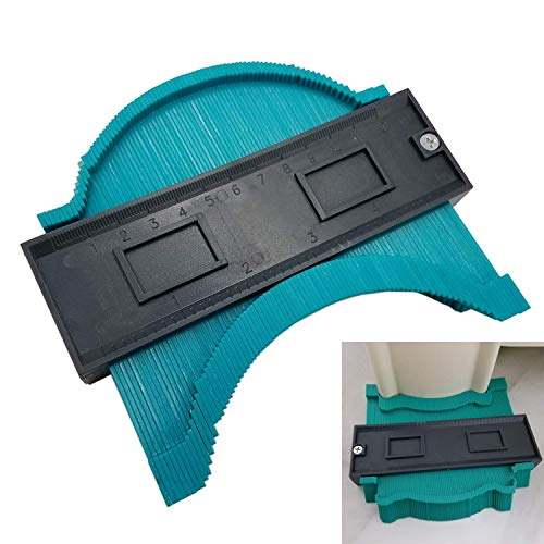 Sunnyflowk Contour Gauge Plastic Profile Copy Gauge Duplicator Standard Wood Marking Tool Carrelage Laminate Tiles General Tools Green