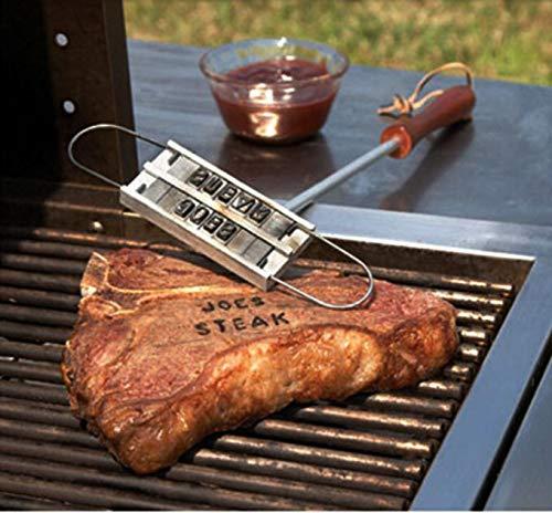 BBQ Brandeisen mit auswechselbaren Buchstaben Tolle Geschenkidee für jeden Griller - Spaß für jede Grillparty - Branding Iron BBQ-Brandeisen Fleischstempel Grillstempel Grillzubehör Grillbesteck