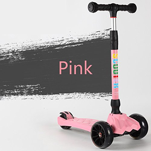 Best Bargain Rishx Prevention Slip Three-Dimensional Pedal Children's Scooter Adjustable Height One-...
