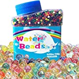 Cinvo Rainbow Water Beads 11000 Colorful Magic Water Growing Beads for Kids Sensory Toys, Spa Refill and Home Décor (Non-Toxic, Grow to 11-15mm Gel Beads)