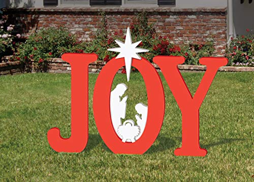 Frontyard Originals Outdoor Joy Nativity (Red)