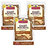 PREMIUM QUALITY – You asked and we delivered! The most wholesome, convenient and soft pocket pita bread on the market. Toufayan Smart Pockets are a healthy pita made from 100% Whole Wheat with Multigrain. NUTRITIONAL FACTS – Toufayan Smart Pockets ar...