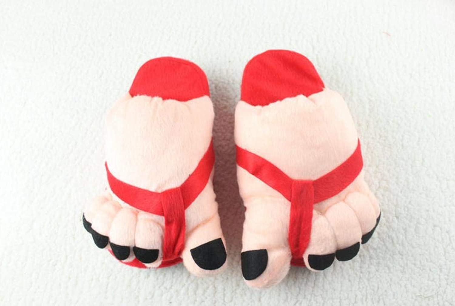 JaHGDU Ladies Casual Cute Toes Style Appearant Slippers Super Soft Plush Paws Comfortable Special Design Home Leisure Cotton Slippers