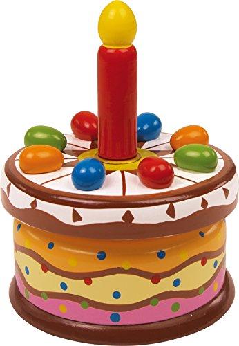 small foot 2483 Boîte à musique «Gâteau d'anniversaire», joue la mélodie \