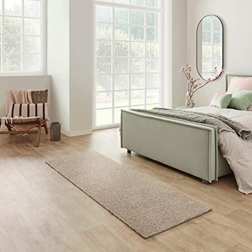 Carpet Studio Santa Fe Läufer Flur 67x180cm, Teppich Läufer für Schlafzimmer, Küche & Flur, Einfach zu Säubern, Weiche Oberfläche, Kurzflor - Beige