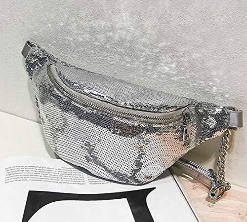 whbage Sac de Ceinture Sac de Taille Fanny Pack pour Femmes Sac de Taille à Paillettes Poitrine Épaule Paquet Shine Bag Bum Belts Waist Packages