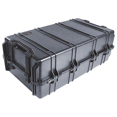 PELI 1780 conteneur de transport extrêmement résistant, IP67 étanche à l'eau et à la poussière, capacité de 216L, fabriqué aux États-Unis, avec insert en mousse personnalisable, noir
