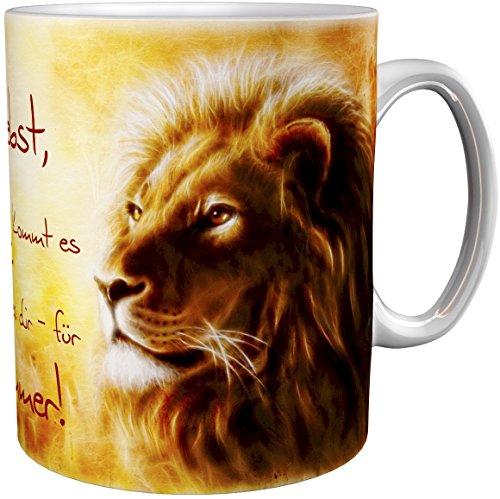 metALUm Kaffeetasse Kaffeebecher Geschenktasse Löwe