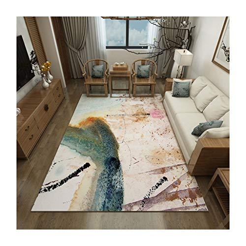 LYM #Woonkamer tapijt kort fluweel nieuwe Chinese stijl woonkamer tapijt slaapkamer bank eettafel tapijt studie pad matten