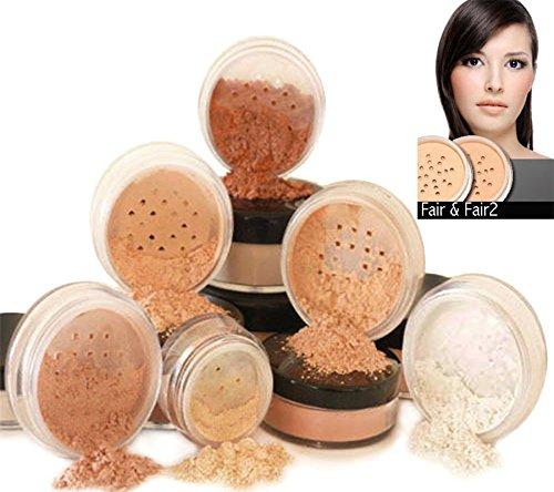 Intelligent Cosmetics® Mineralische Make-Up, Reine Natürliche Make-Up, 6-teiliges Set, 100% vegan & wurde nie bei Tieren getestet, natürlicher LSF - Fair & Fair2