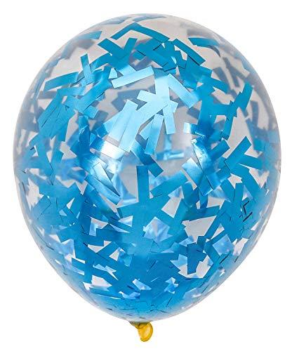 PartyWoo Blauwe Ballonnen, 50 Stuks 12 Inch Blauwe Confetti Ballonnen