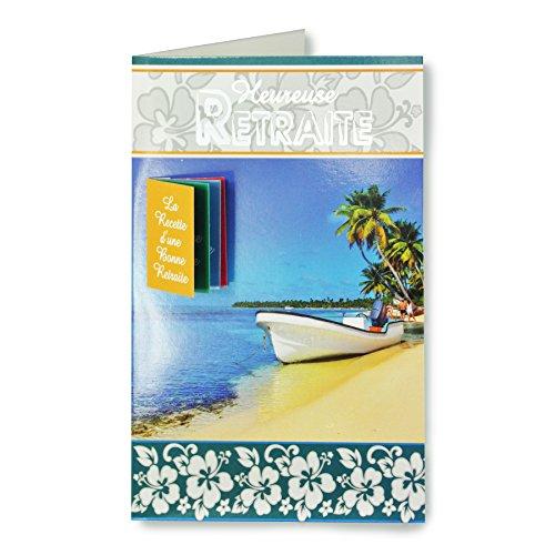 afie 65-1112-B wenskaart voor pensioen - strand zee boot palmen vakantie