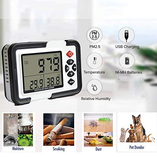 Luftdetektor Luftqualitätsmonitor Verschmutzungsmesser Temperatur Luftfeuchtigkeit Test PM2.5 Multifunktion Luft Zusammensetzung Detektor Echtzeit Vorhersage