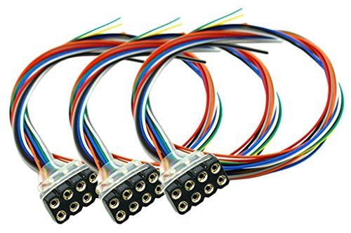 DCC Concepts 8 Pin Female DCC Harness 300mm Leads (3)