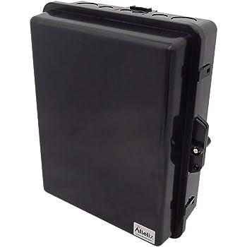 ABS Weatherproof Tamper Resistant Safety Red NEMA Box Altelix Red NEMA Enclosure 12 x 8 x 4 Inside Space Polycarbonate