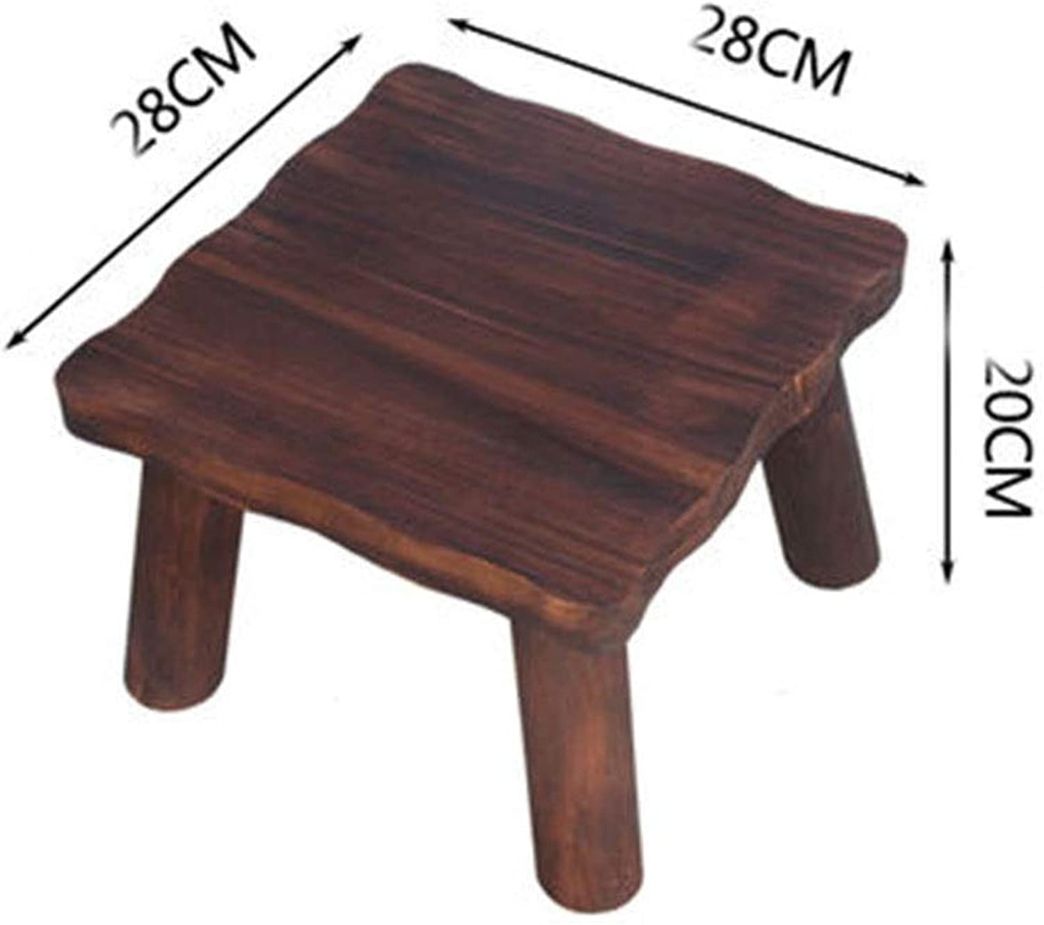 B.YDCM Wooden Bench- Home Stool Coffee Table Low Stool Square Thick Small Bench Anti-Corrosion Wooden Square Stool Adult Wood - Wood Bench (color   B)