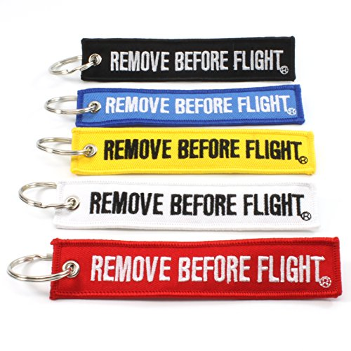 Rotary13B1 - Remove Before Flight Multi Color 5 Pack Key Chains