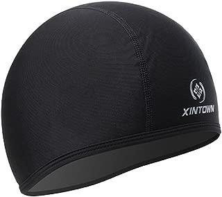 Skull Cap Under Helmet Liner Moisture Wicking For Cycling Motorcycle Running Beanie Black