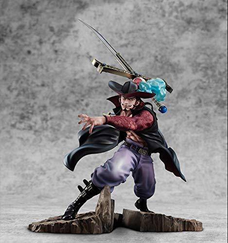 Anime One Piece Hawk-Eyes MAX Dracule Mihawk Santoryu Ver.PVC Acción Anime Figura Modelo Juguetes Modelo De Colección Muñeca Regalo 34Cm