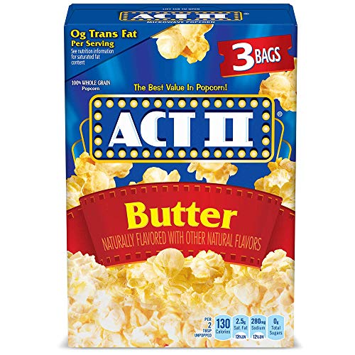 ACT II Popcorn w/Butter - 3 count 2.75oz bags