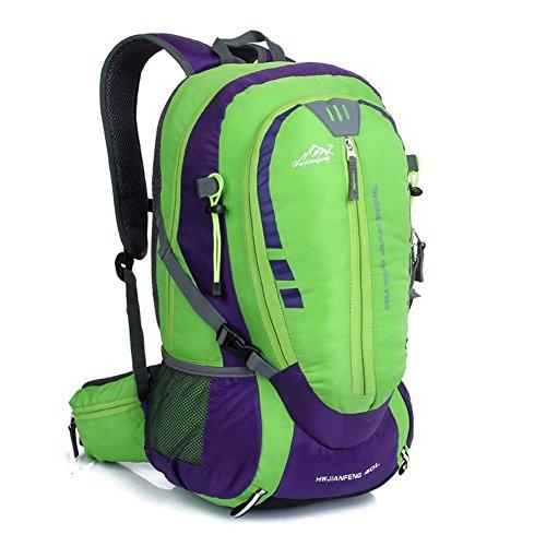 Sincere® la mode Fashion Backpack / Zipper Sacs à dos / Rue / Multifonction / Grand sac de capacité / sacs de montagne / extérieur sac de sport / ordinateur sac à dos vert 40L