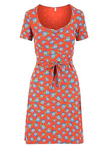 Blutsgeschwister Damen Kleid Belle de jours Petit Robe Midi- Kleid Sommerkleid Rot L