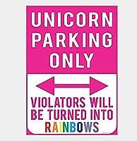 Unicorn Parking Only Souvenir ティンサイン ポスター ン サイン プレート ブリキ看板 ホーム バーために