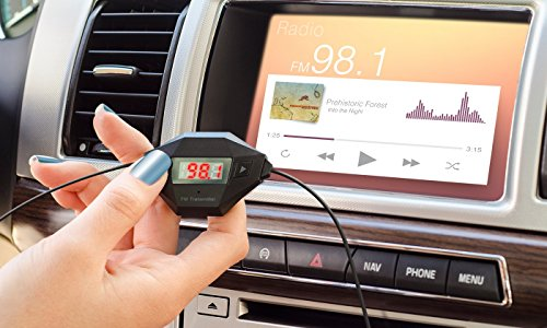 Okra In Car Universal Wireless FM Transmitter & Hands-free Calling with USB Car Charger For iPhone, Samsung, Motorola, Nokia , Lg , And ALL Smartphones GPS MP3 Mp4 Audio Player with 3.5mm Audio In Jack