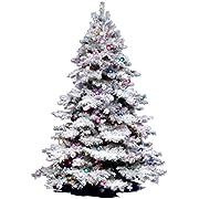 "Vickerman 36"" Unlit Flocked Alaskan Pine Artificial Christmas Tree"