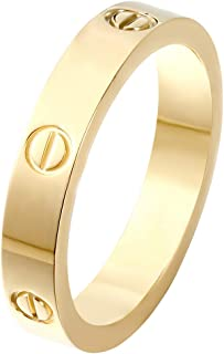 Z.RACLE Love Ring-Gold Lifetime Just Love You 4MM in Width
