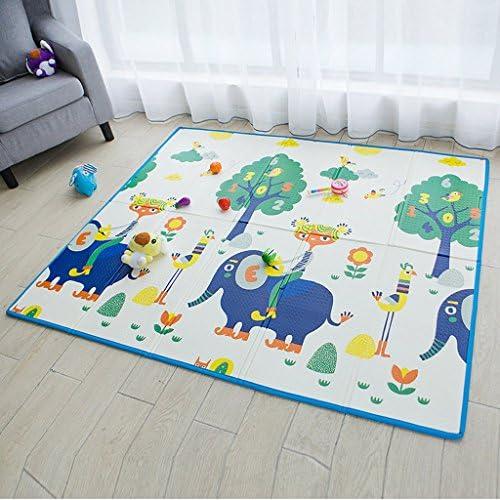 Falten-Schaum-Kissen XPE-Kinder, starke Doppelseitige Schaum-Matte 150cm  180cm  8mm (Farbe   Blau)