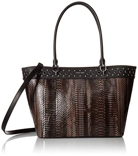 Calvin Klein Susan Patent Python Studded Tote with Card Case Hanger Calvin Klein Susan Patent Python Studded Tote with Card Case Hanger