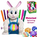 JOYIN Klever Kits Motorized Easter Egg Decorator Kit Battery Driven Busy Bunny Egg Whirler Easter Egg Spinner Decorating Machine with 10 Colorful Non-Toxic Markers from Joyin Inc