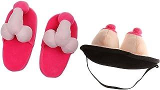 Plaisanterie article Pantoufles Pénis seins pantoufle amener du Chaussures Fête Anniversaire