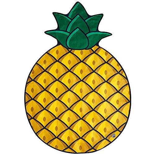 BigMouth Inc. – Pina Ananas Telo Mare Gigante Spiaggia - Asciugamano Coperta XXL Rotonda Bagno