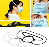 Essential Mask Brace Secure Your Loose-Fitting Mask Silicone Prevent Fogging, Silicone Bandage for Mask, Extra Elastic Head Strap Reduce Ear Pressure (black and white)