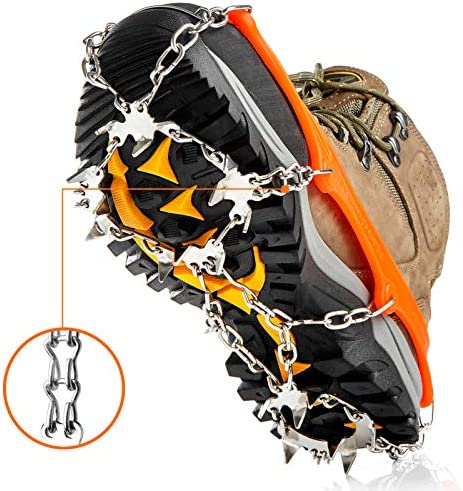 Crampons Ice Cleats Traction Snow Grips for Boots Shoes Women Men Kids Anti Slip 19 Stainless product image