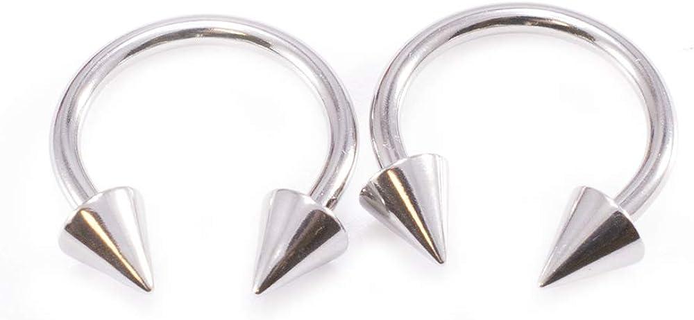 Basic Horseshoe 10PC Captive Nipple Labret Piercing Jewelry 12G