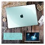 GYY para MacBook Air 11 12 13.3'Cubierta Clara De Cristal para MacBook Air Pro 13 15 16 Touch Barra/Touch ID A2289 A2338 M1 A2159 (Color : Crystal Green, Size : A2159 A1706 A1989)