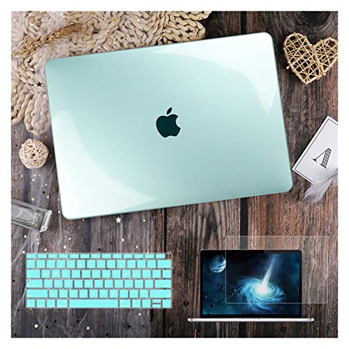LYB For Macbook Air 11 12 13.3' Crystal Clear Cover for Macbook Air Pro 13 15 16 Touch Bar/Touch ID A2289 A2338 M1 A2159 (Color : Crystal green, Size : A2159 A1706 A1989)