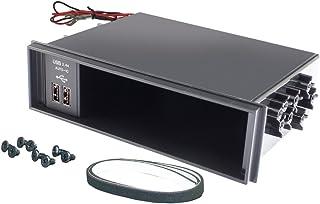 小さくてコンパクト マキヤヤクオーディオパーツDINBOXUSB電源2.4AVP-D12