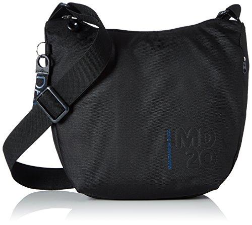 Mandarina Duck Md20 Minuteria/Dress Blue, Bolso bandolera para Mujer, Negro (Black), 10x21x28.5 cm (B x H x T)
