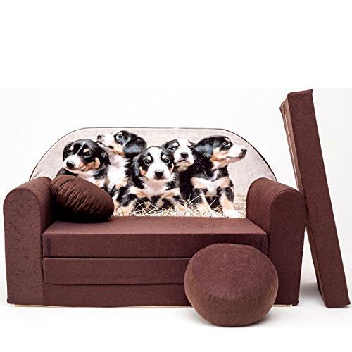 K7 + C pour Enfants Bébés Mini Canapé bébé Canapé lit Pouf Lot de 3 en 1 d'oreillers en Mousse